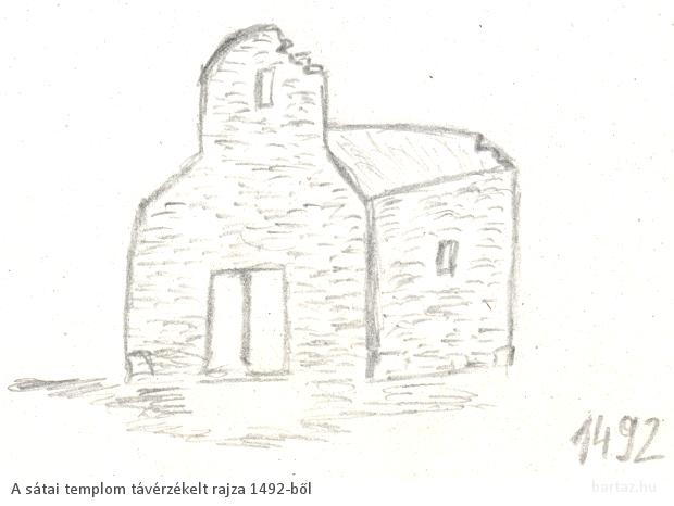 A sátai templom távérzékelt képe 1492-ből